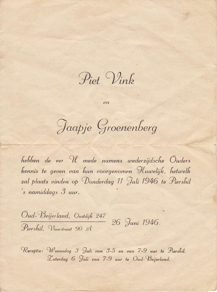 Ondertrouwkaart-Jaapje-Groenenberg