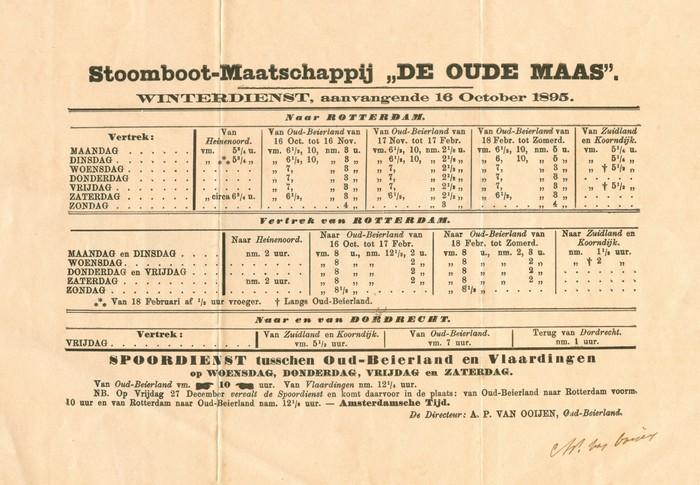 oudbeijerland-stoomboot-dienstregeling-1895