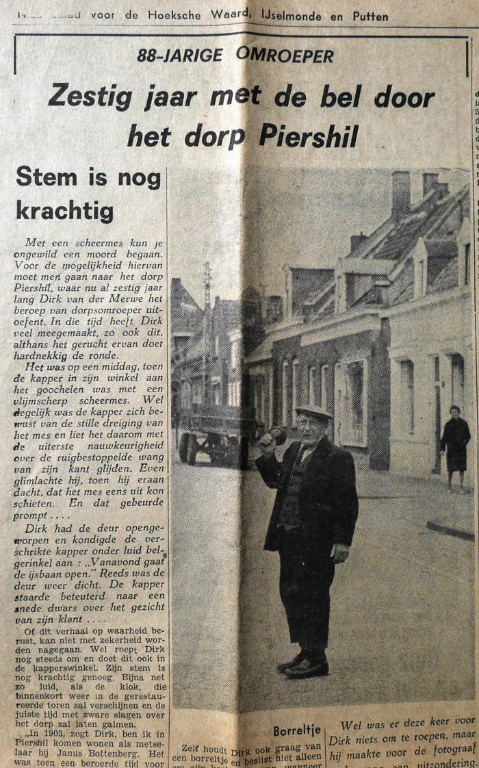 piershil-dorpsomroeper-knipsel-6maart1964
