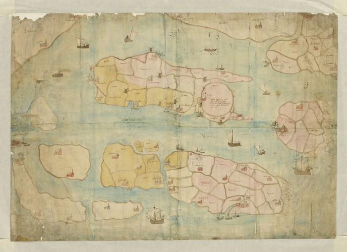 piershil-kaart-15deEeuw-kaartvandenlandevanVoorne
