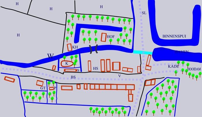 piershil-kaart-1816-voorstraat