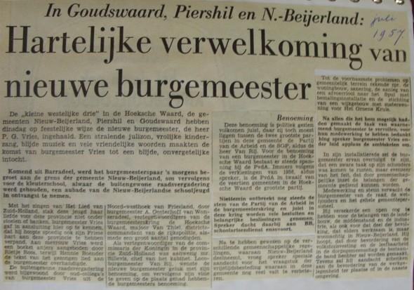 piershil-knipsel-burgemeester-vries1957-01