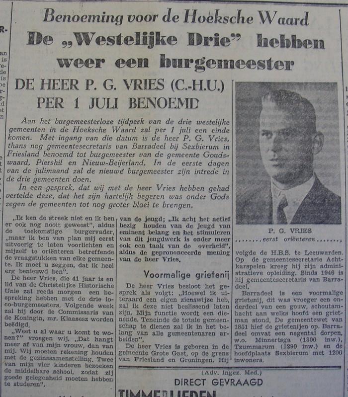 piershil-knipsel-burgemeester-vries1957-05