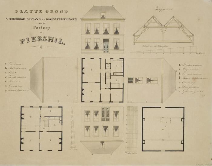 piershil-pastorie-plattegrond-1860-01