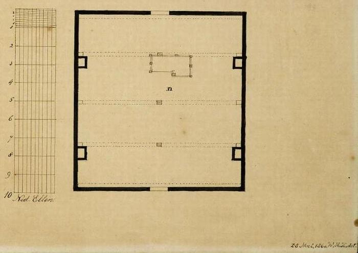 piershil-pastorie-plattegrond-1860-05