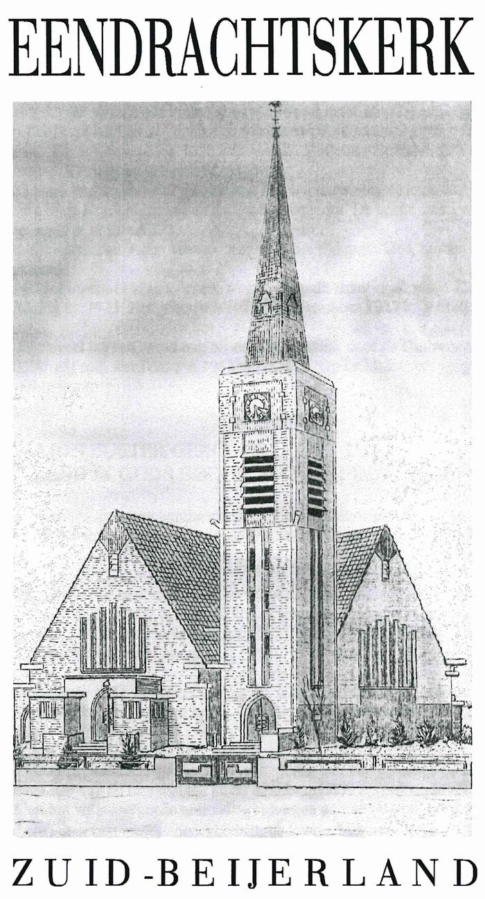zuid-beijerland-kerk-pentekening