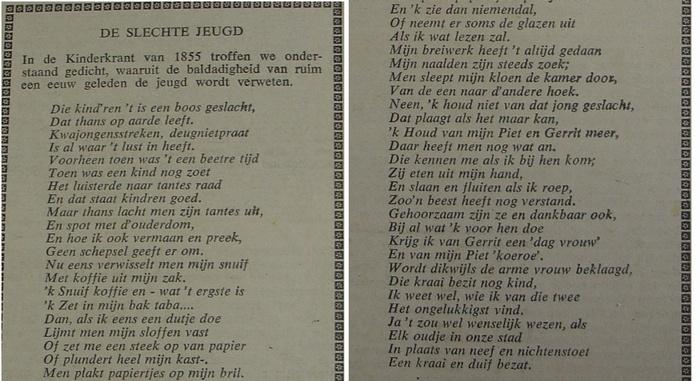 gedicht-schooljeugd-kinderkrant-1855