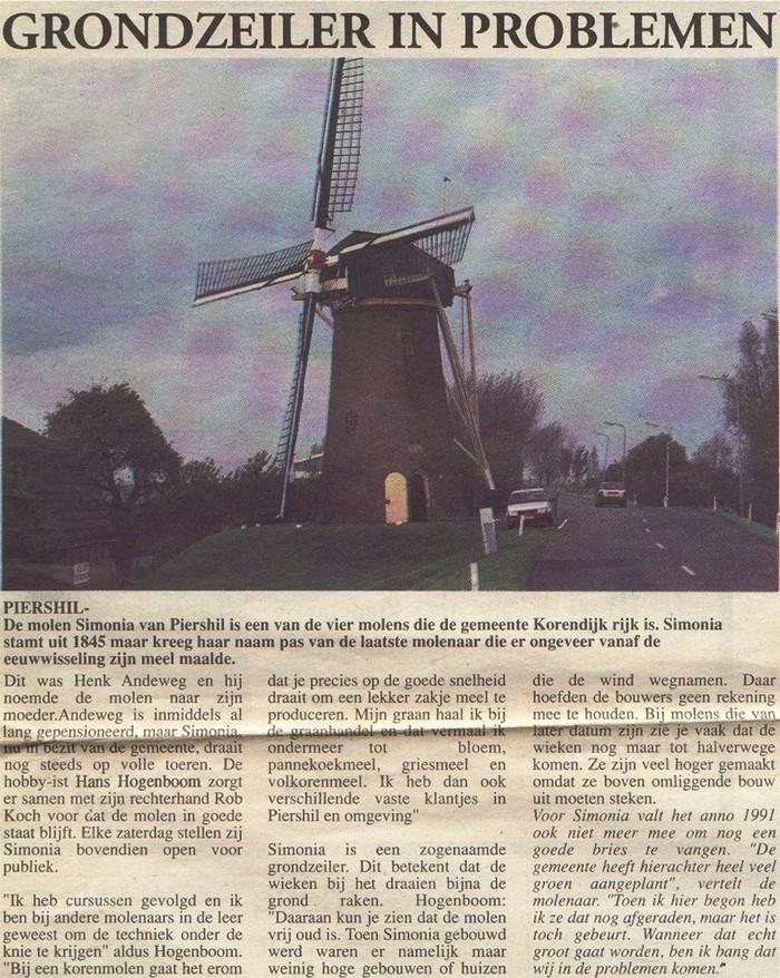 piershil-molen-knipsel-1991